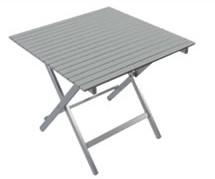 Tavolo Pieghevole Quadrato Alluminio